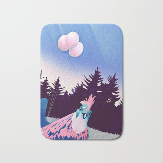 What the Hegg (Pink Version) Bath Mat