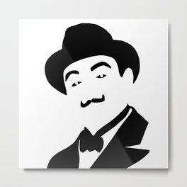 Hercules Poirot Metal Print