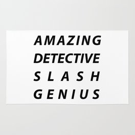 AMAZING DETECTIVE SLASH GENIUS Rug