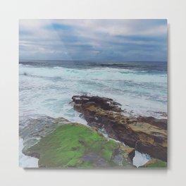 Ocean Moss Metal Print