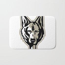 Alsatian Wolf Dog Head Mascot Bath Mat