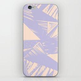 Modern lilac ivory violet geometrical shapes patterns iPhone Skin