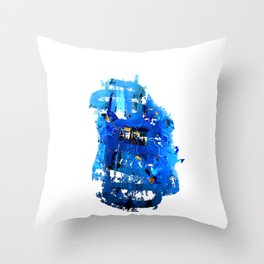 Blue Emotion Throw Pillow