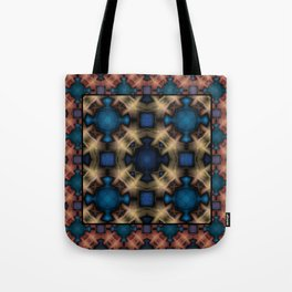 Abstract pattern. Black blue yellow background. Tote Bag