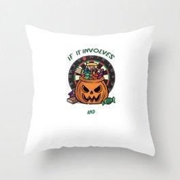 Darts Dart Pumpkin Jack O Lantern Halloween Throw Pillow