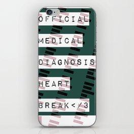 HEART</3BREAK green iPhone Skin
