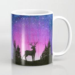 Galaxy Forest Reindeer Coffee Mug