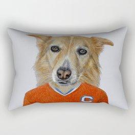 dog in sportwear Rectangular Pillow
