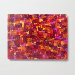 Freckeld Crimson Metal Print