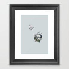 Alaska from above Framed Art Print