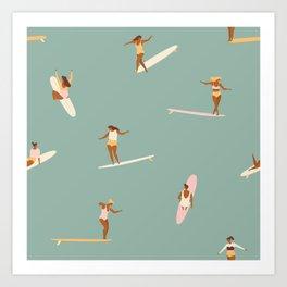 Surf sistas Kunstdrucke