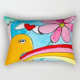 Rainbow Puke Rectangular Pillow
