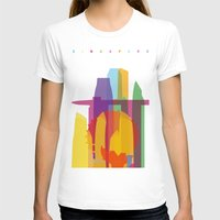 singapore T-shirts featuring Shapes of Singapore. by Glen Gould
