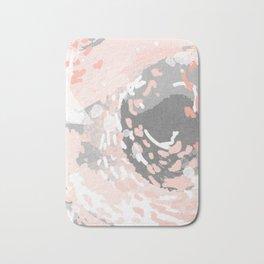Penny - millennium pink and grey abstract canvas large art decor dorm college nursery Bath Mat