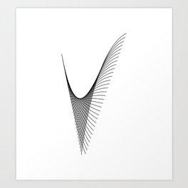 """Linear Collection"" - Minimal Letter V Print Art Print"