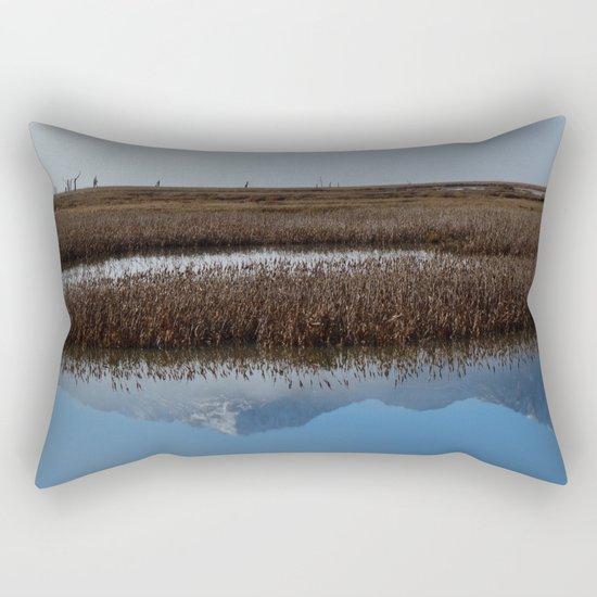 Autumn Mist Reflection Rectangular Pillow