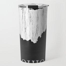 Ohio State Map Chalk Drawing Travel Mug
