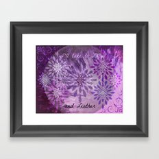 LACE AND LEATHER - Underwear Love Project Deep Purple Lace Pattern Fancy Elegant Typography Abstract Framed Art Print