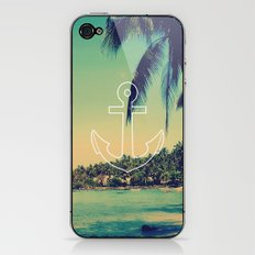 Vintage Summer Anchor iPhone & iPod Skin