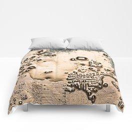 Golden Circuit Comforters