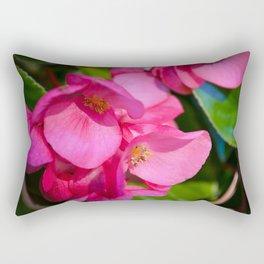 Pink Begonia Vine, Dragon Wing Rectangular Pillow