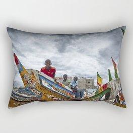 Playful Ship Captain and Mates Rectangular Pillow