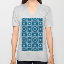 Cirlces and Square - Midnight Unisex V-Neck