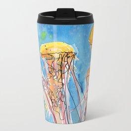 Jellyfish Friends Metal Travel Mug
