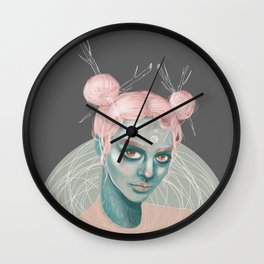 Wild Cotton Candy Wall Clock
