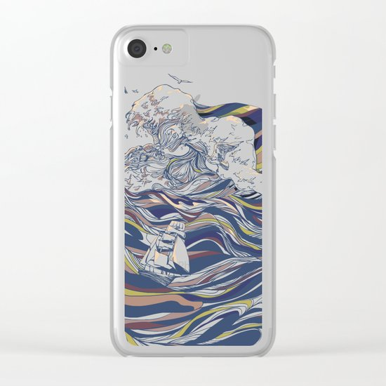 OCEAN AND LOVE Clear iPhone Case