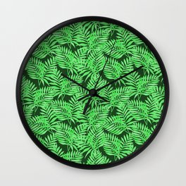 Tropical Jungle Palm Leaves Canopy Wall Clock