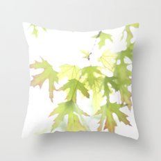 Soft Maple Leaves Throw Pillow