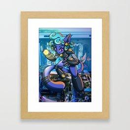 Robotic Kitty Girl Framed Art Print