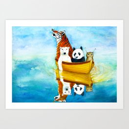 Herbert at Sea Art Print