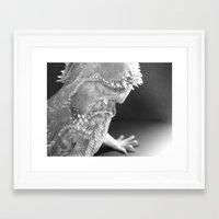 climbing Framed Art Prints featuring Climbing by Itzel Lara Laursen