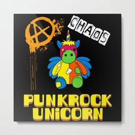 Funny Punk Rock Unicorn Unicorn Punk Death Metal Metal Print