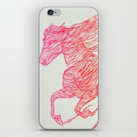 horse iPhone & iPod Skins featuring Horse by Huebucket