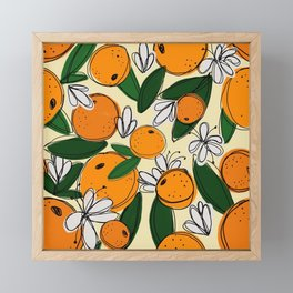 Oranges in Bloom Framed Mini Art Print