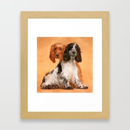 English Cocker Spaniel Dog Digital Art Framed Art Print