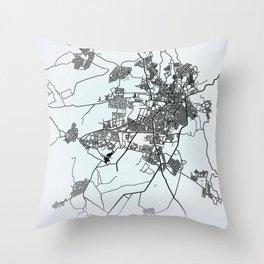 Asmara, Eritrea, White, City, Map Throw Pillow