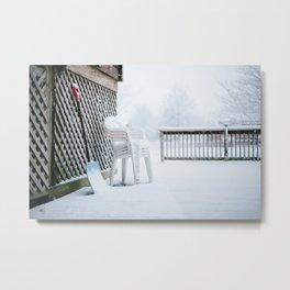 First Snowfall of the Season // Illinois Metal Print