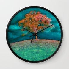 ABSTRACT - solitary tree Wall Clock