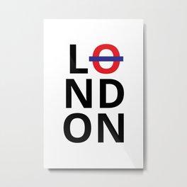 London Poster Metal Print