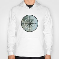 compass Hoodies featuring Compass by madbiffymorghulis