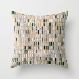 Vintage wall#retro#film#effect Throw Pillow