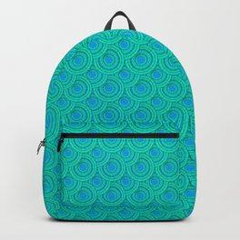 Teal Parasols Pattern Backpack
