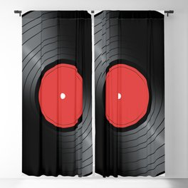 Music Record Blackout Curtain