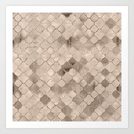 Quatrefoil Moroccan Pattern Pastel  Mineral Quartz Art Print