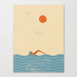 Swimmer Canvas Print