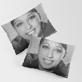 Josephine Baker Portrait of an African American Woman black and white photograph / art photography Pillow Sham